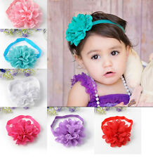 Lovely Kid Girl Baby Infant Headband Toddler Lace Flower Hair Band Accessories