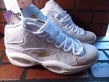 REEBOK Question Mid Quilted Mens Shoe Size 11 NEW AR1710 White Chalk Gold