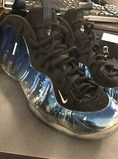 Nike Air Foamposite One Prm Blue Mirror Metallic Silver 575420-008 Sz 13