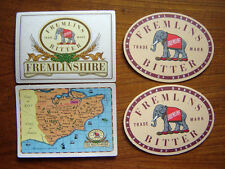 2  DIFFERENT  FREMLINS  BITTER  BEER  MATS / COASTERS / SOUS BOCK  NEW