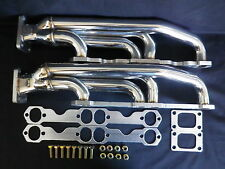 CHEV SMALL BLOCK FRONT MOUNT STAINLESS TWIN TURBO MANIFOLDS