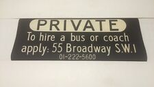 """London Linen Bus Blind Dec 1971 36"""" Private To Hire Bus Or Coach SW1 55 Broadway"""