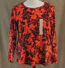 St. John's Bay, 1X, Long Sleeve Crew Neck Floral Knit Top, New with Tags