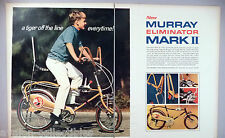 Murray Eliminator Chopper Bicycle 2-Pg PRINT AD -1969 ~sting ray bike, stringray