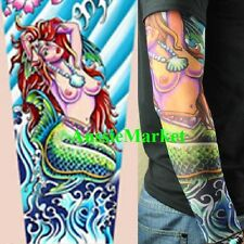 1 x tattoo sleeve fake temporary girls ladies stocking rave fancy dress body art