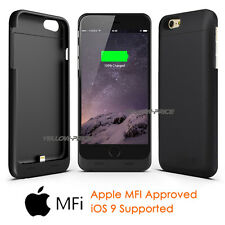 For Apple iPhone 6+ 6S+ Plus Charger Case 4000mAH Power Bank Battery Backup MFI