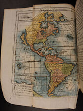 1772 World Geography ATLAS Claude Buffier MAPS California as an Island Voyages
