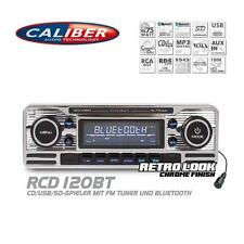 Caliber rcd120bt radio del coche Bluetooth CD USB SD retro Design look Oldtimer Style
