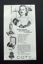 F511 - Advertising Pubblicità - 1953 - PROFUMI COTY