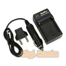 Battery Charger for CANON NB-10L PowerShot G15 G16 G1 X HS Wall + Car Adapter
