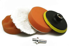 4'' Gross Polish Polishing Buffer Pad Sponge Kit Set Drill Adapter Car Polisher