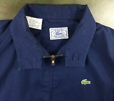 True Vintage 70s 80s IZOD Lacoste Cotton Blend Blue Jacket Coat w/ Zipper L