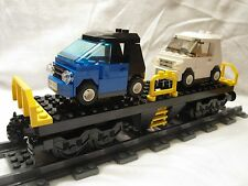 Lego Train City Yellow Cargo Train Car Flatbed 7939/60052/60098/3677 Mint