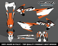 KIT ADESIVI GRAFICHE DROP A KTM EXC 125 150 250 300 2017  DEKOR DECALS