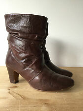 DUNE LADIES BROWN LEATHER ANKLE BOOTS UK5