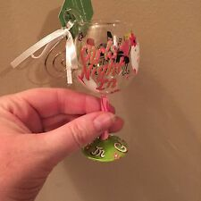 "Ornament Lolita Girls Night In Mini Wine Glass 4"" Tall"