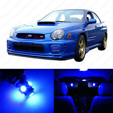 5 x Blue LED Interior Lights Package For 2002 - 2003 Subaru Impreza WRX STI