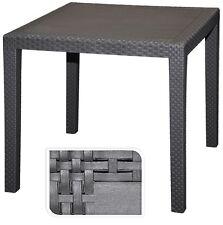 Gartentisch Rattan Optik 79x79x72 cm Tisch Balkontisch Gartenmöbel schwarz