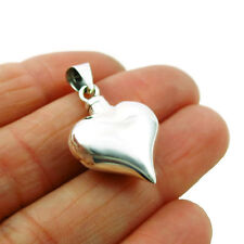 925 Sterling Silver Perfume Bottle love Heart Pendant