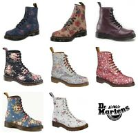 Dr Martens Womens 1460 Floral Flower 8 Eye Ankle Boots - Various Designs
