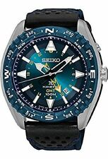 New Seiko SUN059 Prospex Kinetic GMT Blue Dial Nylon Band Men's Watch