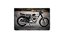 1966 t120r Bike Motorcycle A4 Photo Poster