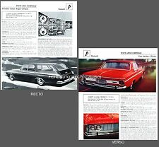 PLYMOUTH  Belvedere Station Wagon / FURY Hard/Top    FICHE AUTO COLLECTION #J1