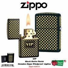 Zippo VIP Black Matte Lighter, Very Important Person, Windproof #28531