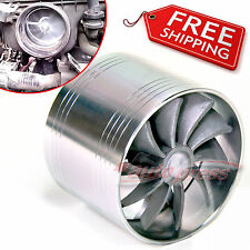 TURBO Supercharger AIR INTAKE TURBONATOR Silver Gas Fuel Saver Fan for FORD
