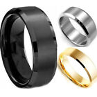 Hot Stainless Steel Ring Band Titanium Silver Black Gold Men SZ 8 to 11 Wedding
