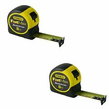 (SET OF 2) STANLEY FATMAX BLADE ARMOR 8M METRIC ONLY MEASURING TAPE 33-728