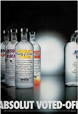 2001 ABSOLUT VOTED-OFF  VODKA ,  Magazine  PRINT AD