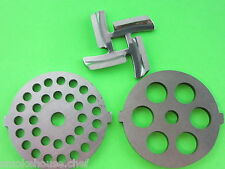 3 pc SET disc and knife for  Deni Waring Pro Oster Rival Elite Meat Grinder