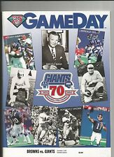1994 NEW YORK GIANTS VS CLEVELAND BROWNS NFL FOOTBALL PROGRAM