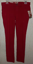 NWT WOMENS / JUNIORS Mudd RED CHILI PEPPER FRENCH TERRY JEGGINGS  SIZE 11
