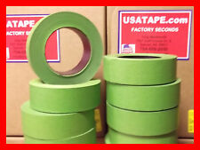 """Lot Of 32 Rolls 1.5"""" X 60 Yrds Green Painters Masking Tape Fine Edge MADE IN USA"""