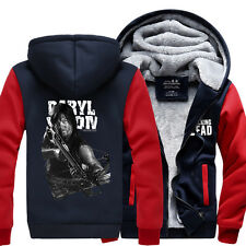 The Walking Dead Hoodie Zombie Winter Fleece Mens Boys Thicken Sweatshirts Coat