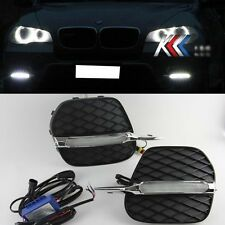For 2011-2013 BMW E70 X5 Bumper Bolt-On 2x White LED Daytime Day Fog Light DRL