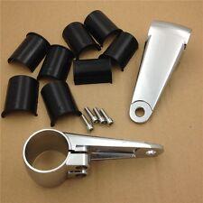 Chrome billet Aluminum Headlight Fork Mounting Brackets For 35mm 39mm 41mm Forks
