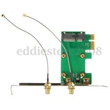 Mini PCI-E To PCI-E Wireless WIFI Adapter Card Antenna Networking PC Desktop NEW