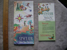 1950's Sinclair Auto Service Travel Folder and Motoring Tips Brochure
