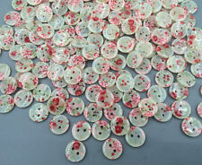 100pcs Resin 2-holes buttons printing Sewing scrapbooking decoration crafts 11mm