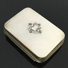 PORTE MONNAIE XIXè NACRE et ARGENT Victorian Coin PURSE MOTHER OF PEARL 19thC