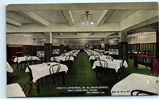 Salt Lake City Utah~Shay's Cafeteria Dining Room~South Main Street~Postcard A63