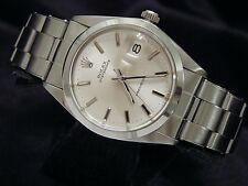 Rolex Oysterdate Mens Stainless Steel Watch Silver Dial Oyster Rivet Band 6694