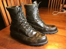 Sears Boots: Vintage Ted Williams Leather Hunting Sport Boots: Olive Green