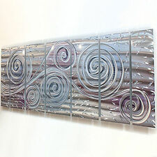 Huge Abstract Modern Contemporary Silver Metal Wall Sculpture - Royal Winds XL