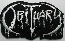 OBITUARY COLLECTABLE RARE VINTAGE PATCH EMBROIDED 90'S METAL PUNK LIVE