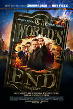 THE WORLD'S END MOVIE POSTER 2 Sided ORIGINAL 27x40 SIMON PEGG