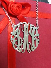 New Personalized Silver Jewelry Monogram Initial Name Necklace(NewYork)1.25""